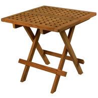 SeaTeak Folding Deck Table