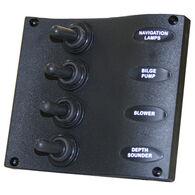 Seasense Marine Splash-Proof 4-Gang Switch Panel