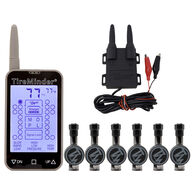 TireMinder TM-77 RV TPMS Tire Monitoring System with 6 Flow-Through Transmitters