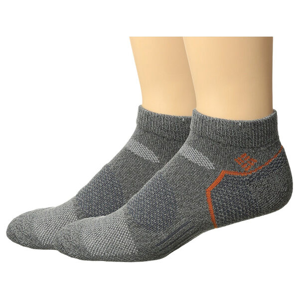 Columbia Men's Balance Point Low-Cut Walking Socks – Charcoal, 2-Pack