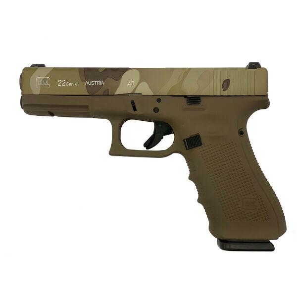 Used Glock 22 Gen4 .40 S&W Handgun Package, Multi-Camo