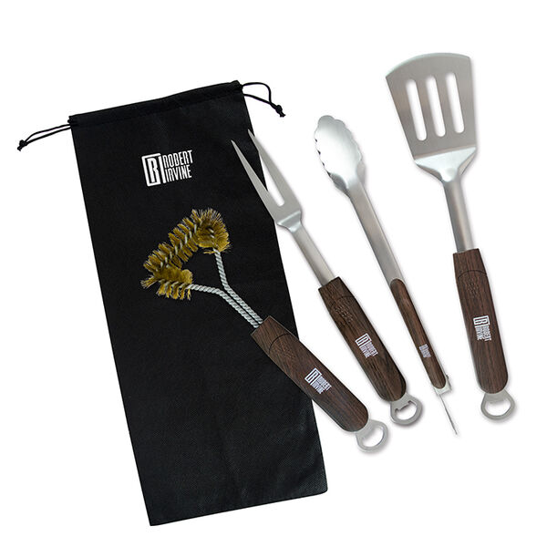 Robert Irvine 5-Piece BBQ Tools Set, Small Size