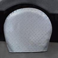 """Diamond Plate Silver Tyre Gards, 40"""" to 42"""""""