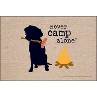 "Never Camp Alone Door Mat, 18"" x 27"""