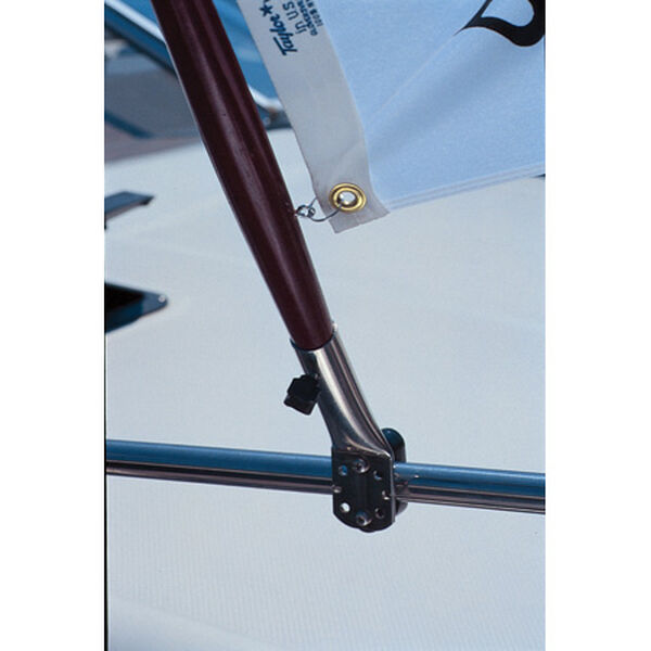 "Rail Mount Flag Pole Socket 3/4"" to 7/8"""