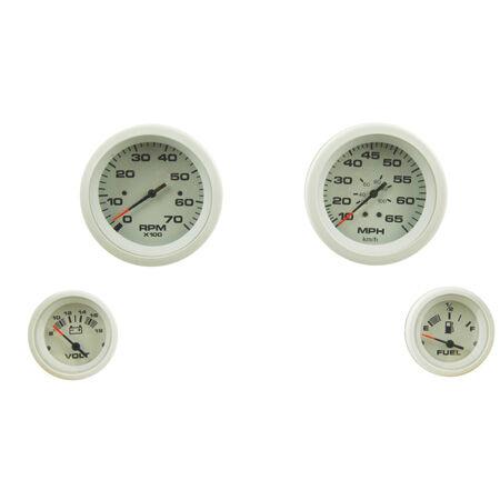 Tachometer Voltmeter /& Fuel Gauges Teleflex 68387P Sierra International Arctic 4 Gauge Outboard Set Includes Speedometer