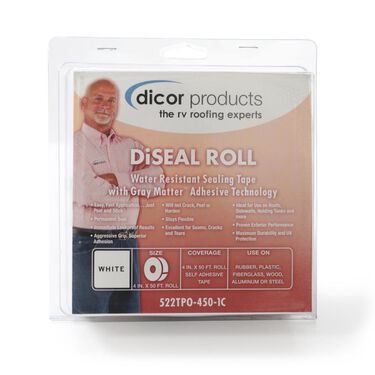 "Dicor Diseal Sealing Tape, 4"" x 50' Roll, White"