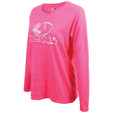 Mossy Oak Women's Long-Sleeve Tee - Heliconia