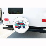 """Vinyl Spare Tire Cover, This is How We Roll, 29"""""""