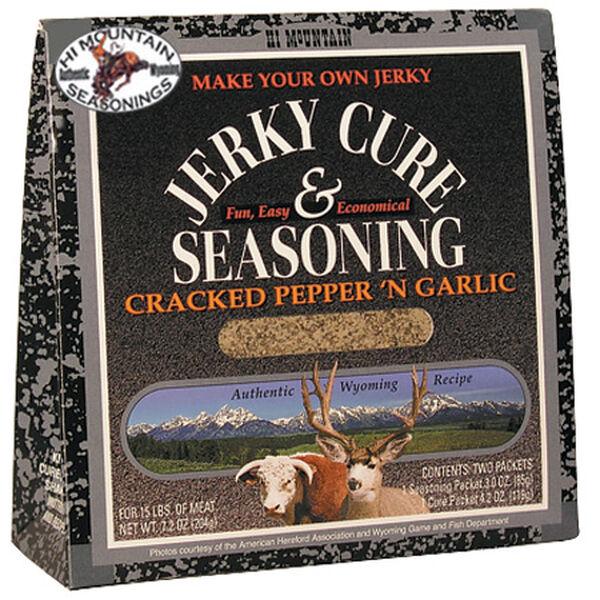 Hi Mountain Seasonings Jerky Cure & Seasoning Kit, Cracked Pepper & Garlic