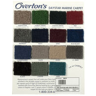 Overton's Daystar/Malibu Carpet Sample Swatch Card