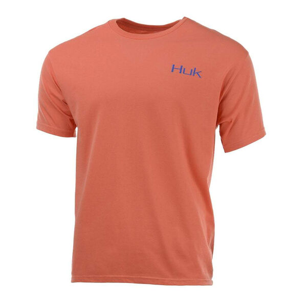 HUK Men's Blue Crab Patch Short-Sleeve Tee