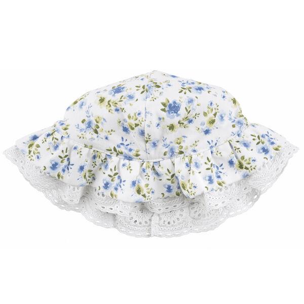 Mud Pie Girls' Floral Eyelet Sun Hat