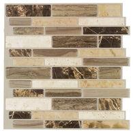 "Peel-and-Stick Mosaic Wall Tile, 10"" x 10"", Verona Beige"
