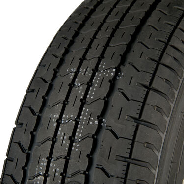 Goodyear Endurance ST225/75 R 15 Radial Trailer Tire, 6-Lug Chrome Modular Rim