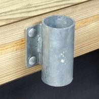"Commercial-Grade 1/4"" Floating Dock Hardware - Outside 3"" Pipe Holder"