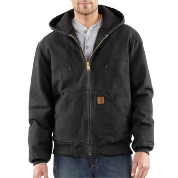 Carhartt Men S Quilted Flannel Lined Sandstone Active Jacket