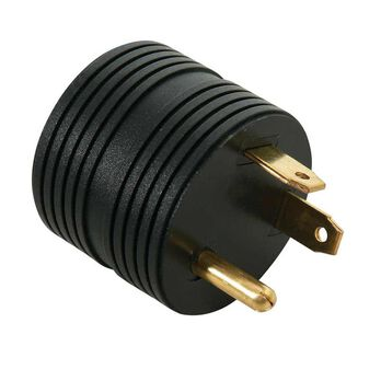 30 Amp Male to 15 Amp Female Round Adapter