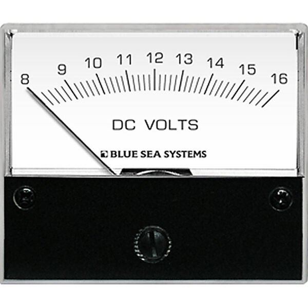 Blue Sea DC Analog Voltmeter, 8-16V