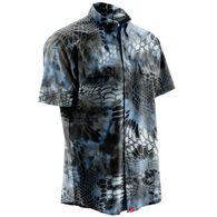 Huk Men's Next Level Kyrptek Short-Sleeve Woven Shirt
