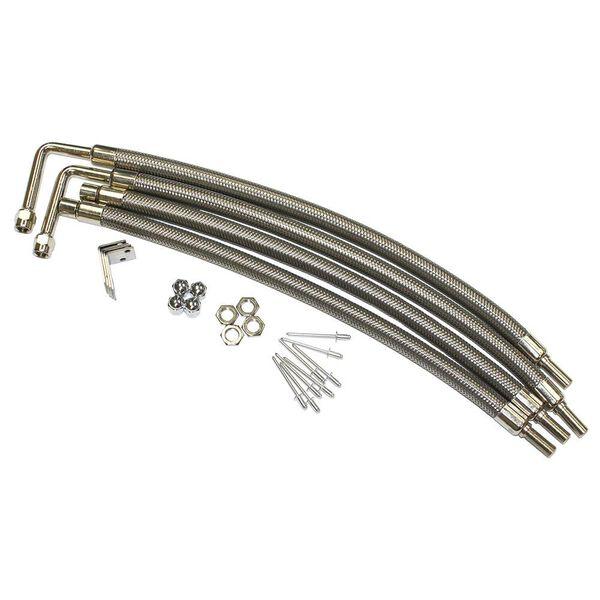 "Dual Tire Inflators - Hub Mount Stainless Steel - 4 Hose Kit for 22"" Aluminum Wheels"
