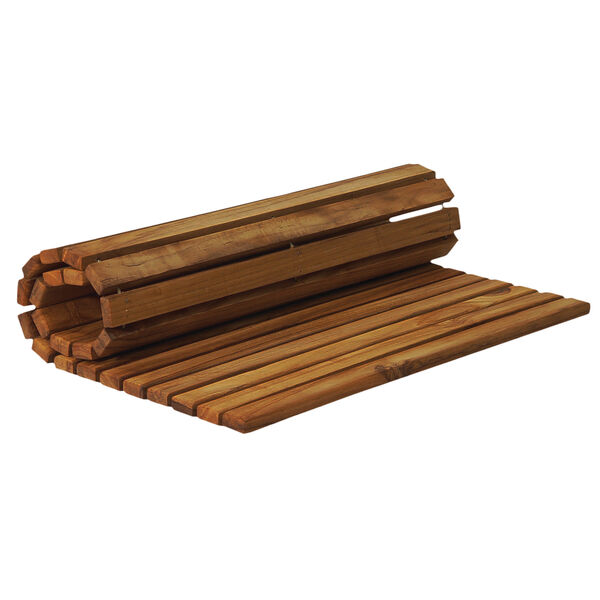 SurfStow Rolled Teak Mat With Oiled Finish