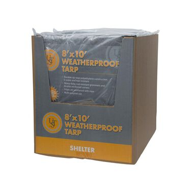 Weatherproof Tarp, 8' x 10' - Green