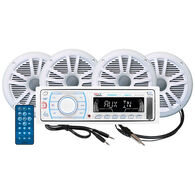 Boss MCK1309WB.64 AM/FM/MP3/iPod Bluetooth Receiver Package With Four Speakers