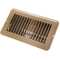 "JR Products 4"" x 8"" Dampered Metal Floor Register, Brown"