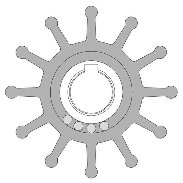 "Johnson Pump Impeller Replacement Kit, 2-9/16"" Diameter"