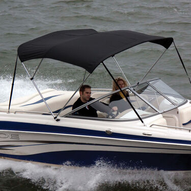 Shademate Polyester Stainless 3-Bow Bimini Top 6'L x 54''H 79''-84'' Wide