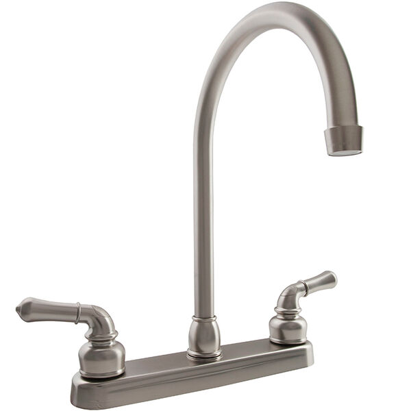 Dura Faucet J-Spout RV Kitchen Faucet, Brushed Satin Nickel