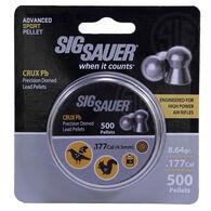 SIG Sauer Crux Lead Air Gun Pellets, .177-cal., 8.64-gr., 500-ct.