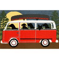 """Red Camping Trip Rug, 24"""" x 36"""""""