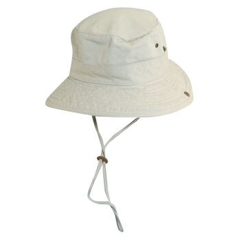Dorfman Pacific Men's Twill Boonie Chain Cord Hat