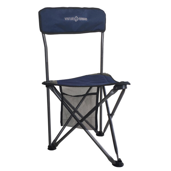 Venture Forward Heavy-Duty Tri Stool with Backrest