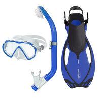 Head Pirate Mask/Snorkel/Fin Set - Blue - S/M