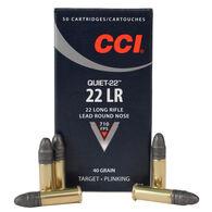CCI Quiet Rimfire Ammo, .22 LR, 40 Gr., LRN