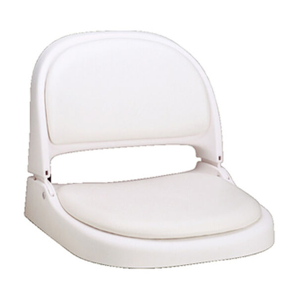 Attwood Proform White Fold-Down Boat Seat With White Vinyl