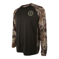 Paramount Outdoors Men's Long-Sleeve Raglan Tee, Mossy Oak Bottomlands Camo