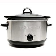 Chefman 6 qt. Round Stainless Steel Slow Cooker