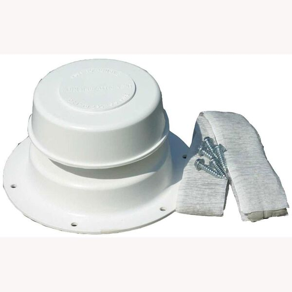 Camco Replace-All Plumbing Vent Kit, Polar White