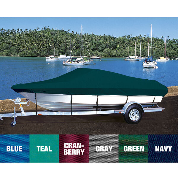 Custom Fit Hot Shot Coated Polyester Boat Cover For ZODIAC 340 DL RIGHT CONSOLE