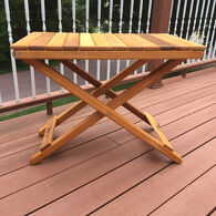 Cedar Wood PartySide Table, Clear Sealant
