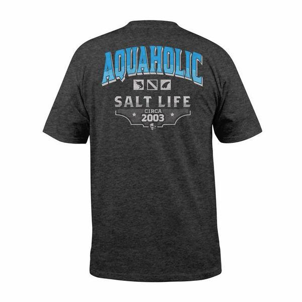 Salt Life Men's Aquaholic Icons Pocket Short-Sleeve Tee