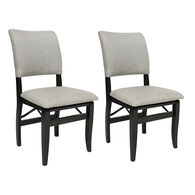 Allure Folding Dinette Chairs, pair
