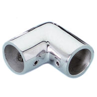 Whitecap 90° Elbow Rail Fitting, Zamac