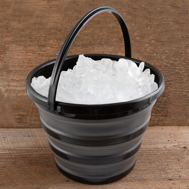 Robert Irvine 10-Quart Collapsible Bucket, Black