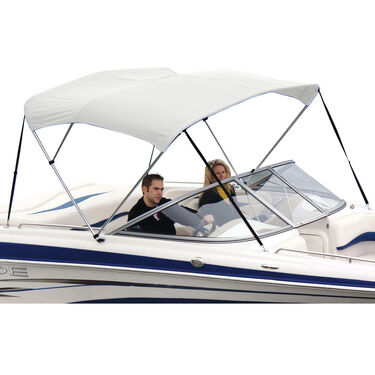 Shademate White Vinyl Stainless 3-Bow Bimini Top 6'L x 46''H 85''-90'' Wide