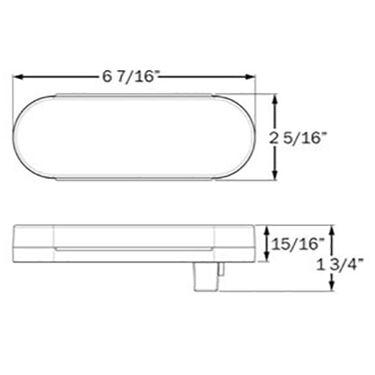 "Optronics Waterproof LED 6"" Oval Trailer Light Kit"